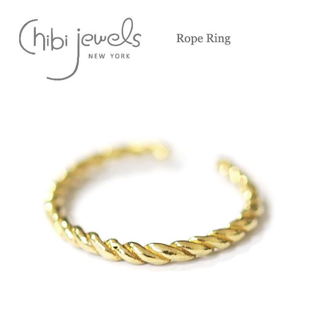 ロープ ゴールドリング 指輪 イヤーカフ 2WAY Rope Ring (Gold)