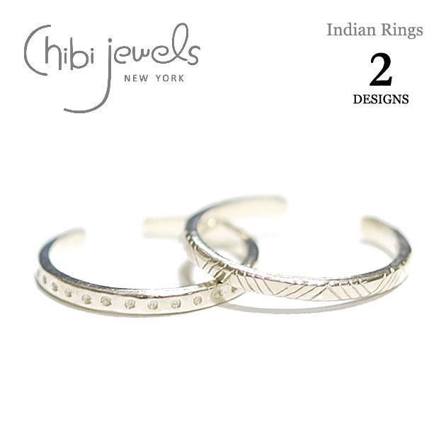 2デザイン インディアン トライアングル&ドット C型リング Indian Rings (Silver)