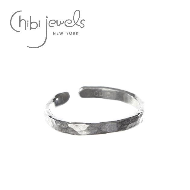 シンプル C型 シルバーリング Hammered Texture Ring (Silver)