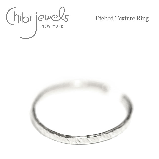 エッジ シルバー C型リング Etched Texture Ring (Silver)