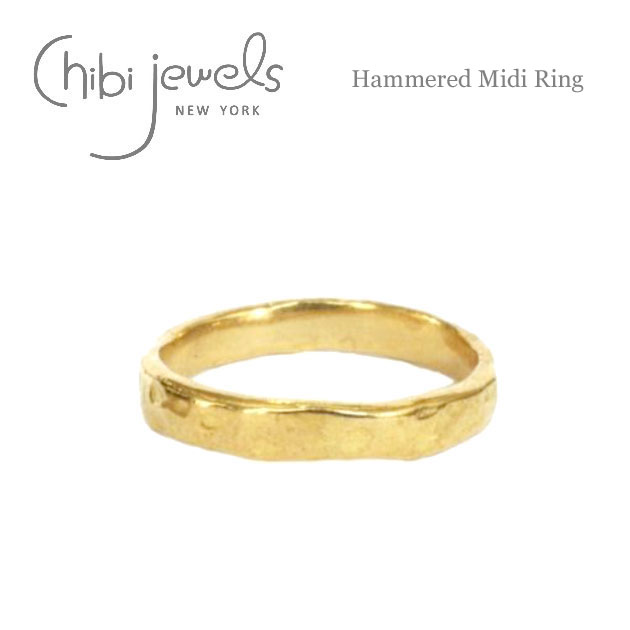 ハンマード ゴールド ミディリング ファランジリング 関節リング Hammered Midi Ring (Gold)
