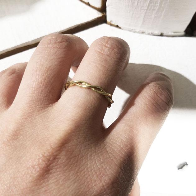 ルーズ ロープ ゴールド リング 指輪 Loose Rope Ring (Gold)