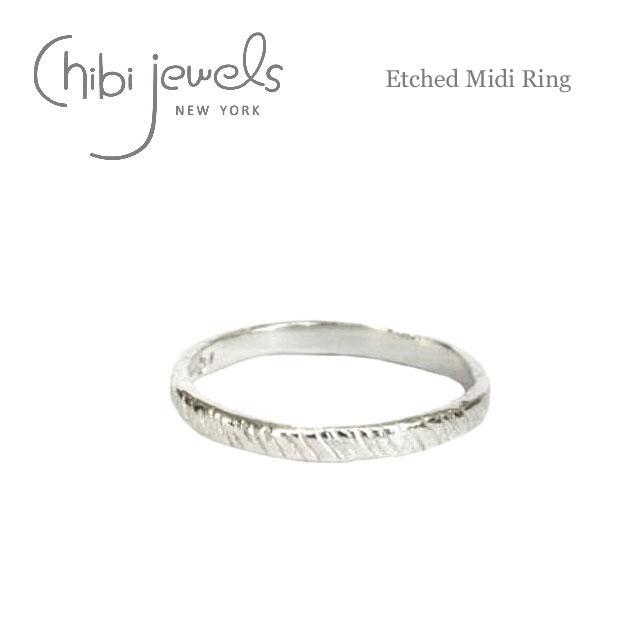 エッジ シルバー ミディリング ファランジリング 関節リング Etched Midi Ring (Silver)