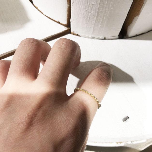 粒 ゴールド リング 指輪 Grain Ring (Gold)