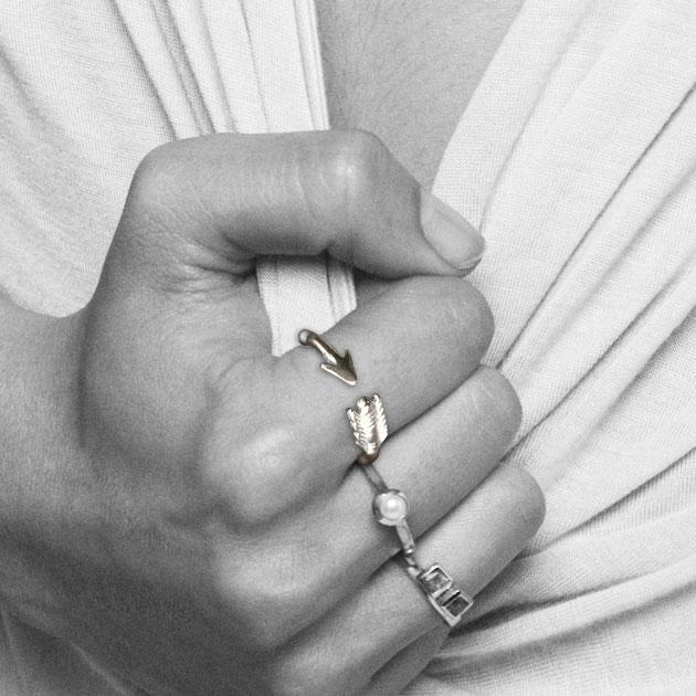 ネイティブ アロー シルバー イヤーカフ リング Arrow Ring (Silver)