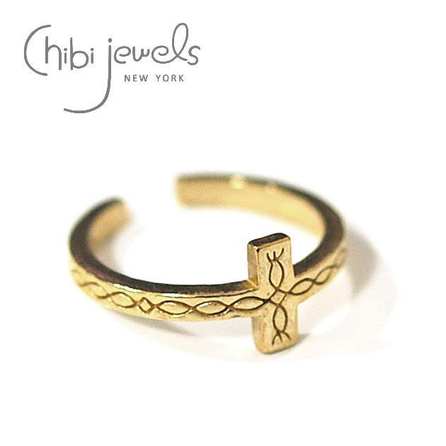 ネイティブ クロス C型 ゴールド イヤーカフ リング Native Cross Ring (Gold)