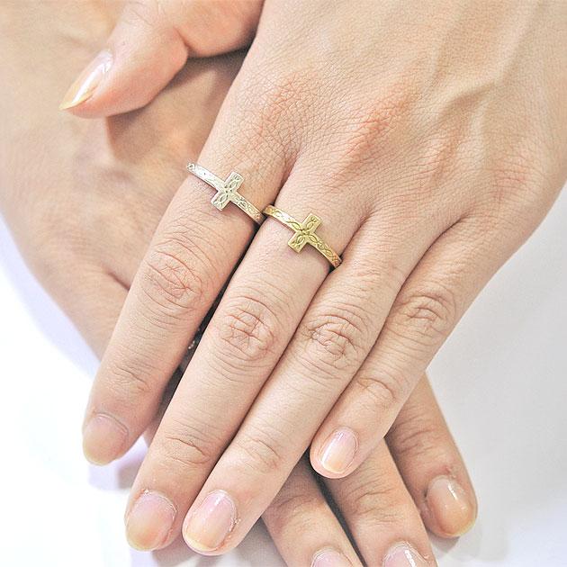 ネイティブ クロス C型 シルバー イヤーカフ リング Native Cross Ring (Silver)