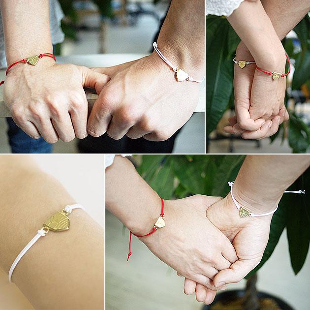【東日本大震災 復興支援】チャリティー ブレスレット Cotton Bracelet ASHINAGA (Red/White)