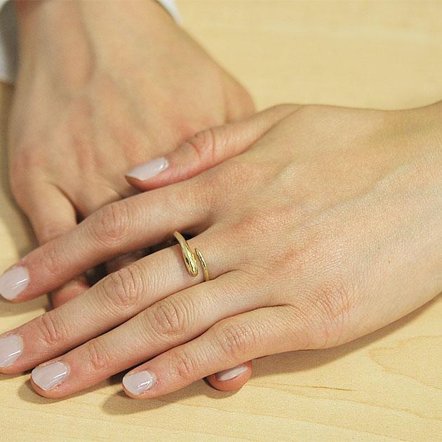 【受注販売】 角モチーフ C型リング 指輪 Small Horn Ring (Gold)