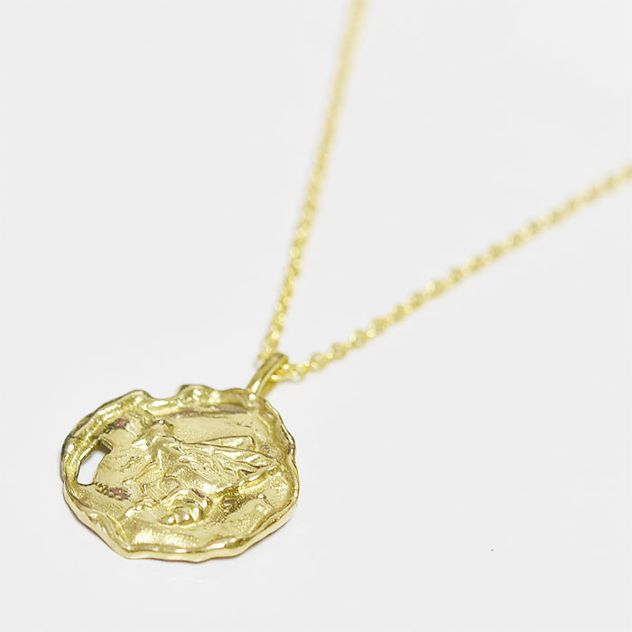 モロッコ ハチ ゴールド コイン ネックレス Bee Coin Necklace (Gold)