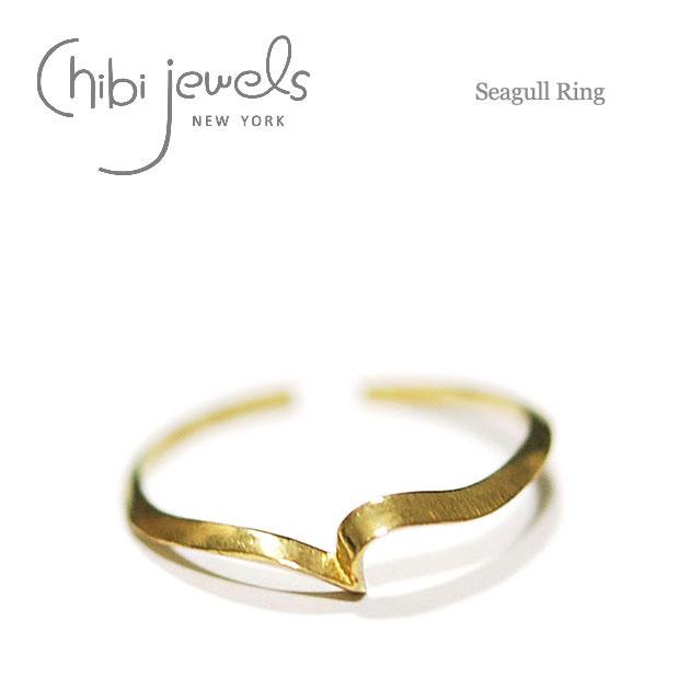 カモメモチーフ C型リング 指輪 Seagull Ring (Gold)