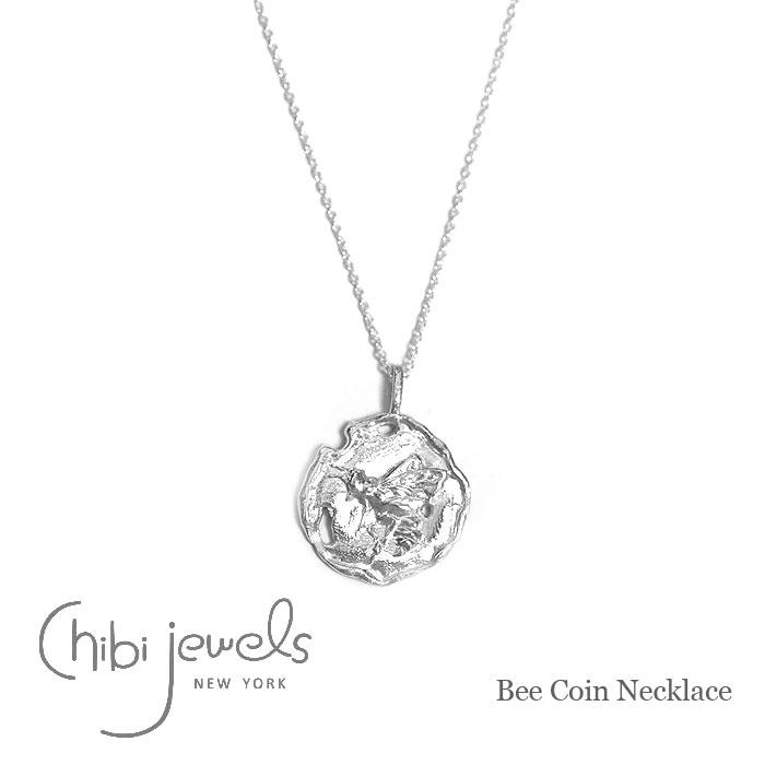モロッコ 蜂 ハチ モチーフ コインネックレス シルバー ネックレス コイン Bee Coin Necklace (Silver)