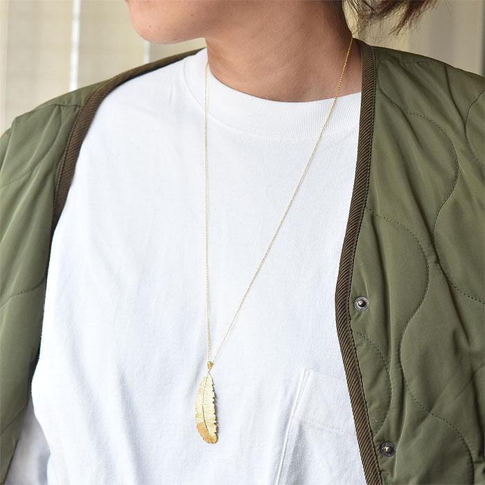 ヤシの葉 モチーフ ネックレス ゴールド 14金仕上げ Palm Leaf Necklace (Gold Plated)