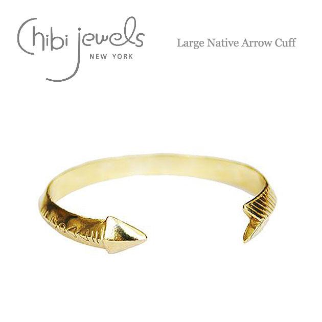 ネイティブ アロー C型 ゴールド バングル Large Native Arrow Cuff (Gold)