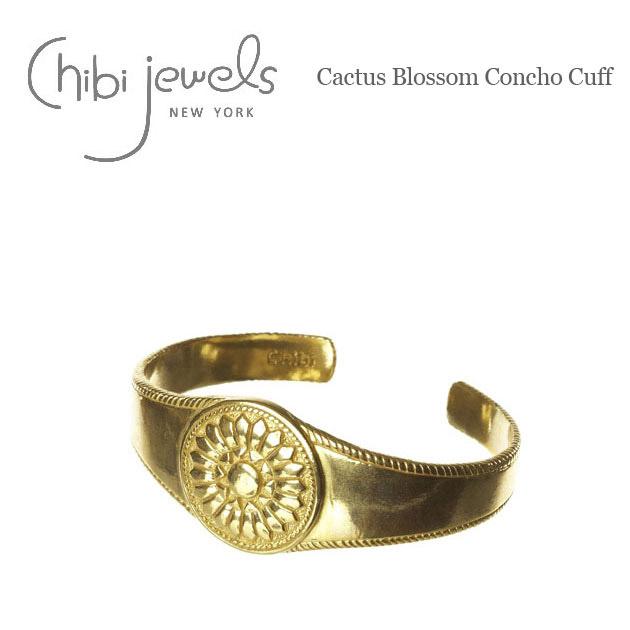 カクタス コンチョ ゴールド C型 バングル Cactus Blossom Concho Cuff (Gold)