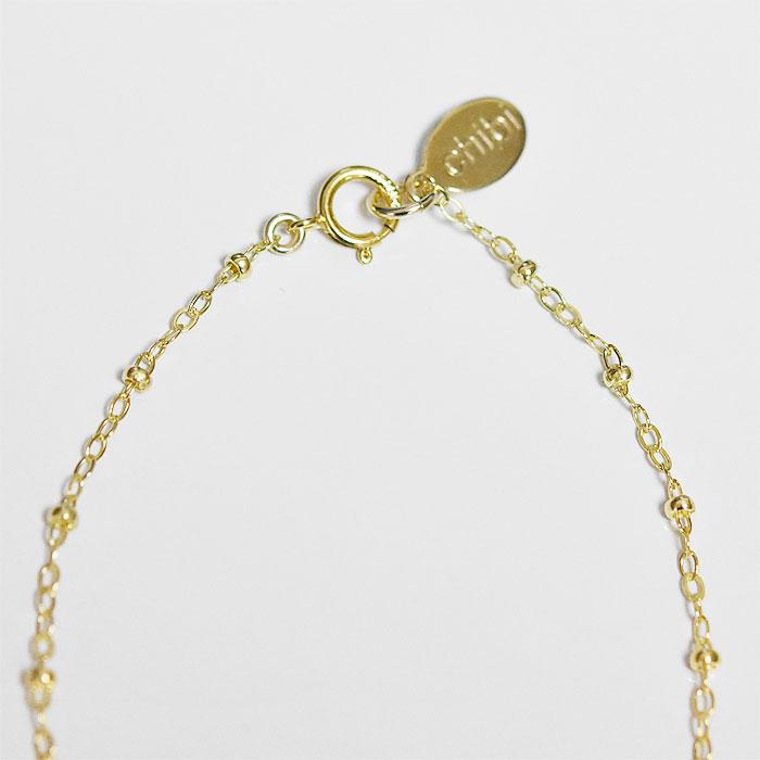 エジプト ヒエログリフ 鳥 トリ バード モチーフ コインネックレス ゴールド ビーズ チェーン ネックレス コイン 14金仕上げ Hieroglyph Bird Coin Necklace (Gold Filled)