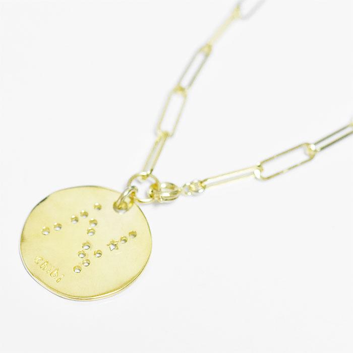 イニシャル 型抜き スター コイン ブレスレット メダル ゴールド 14金仕上げ Initial Coin Bracelet (Gold Plated)