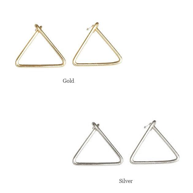 三角形 トリニティ スタッズピアス   Trinity Stud Earrings (Gold/Silver)
