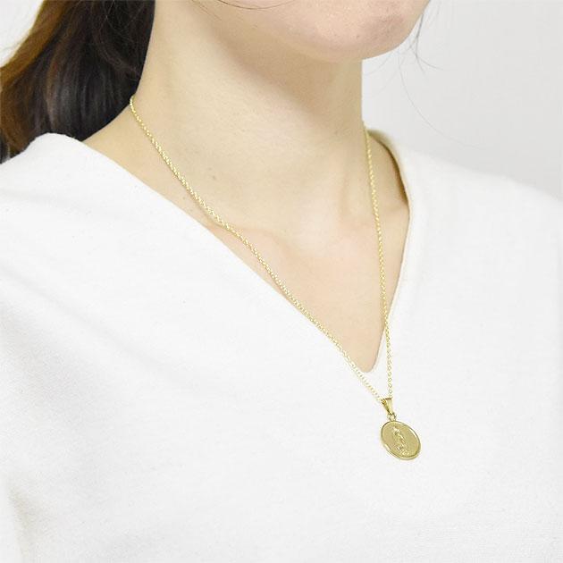 聖母マリア ゴールドコインメダル ネックレス Blessed Medal Necklace (Gold)