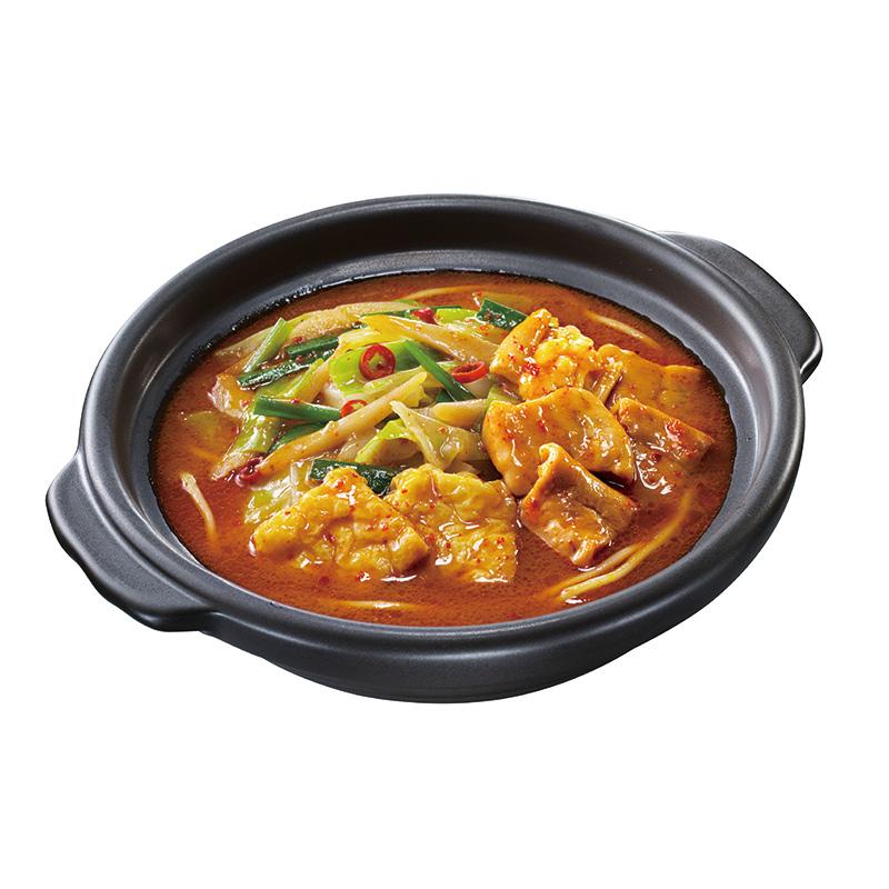キンレイ 旨辛味噌鍋(ちゃんぽん麺入り)