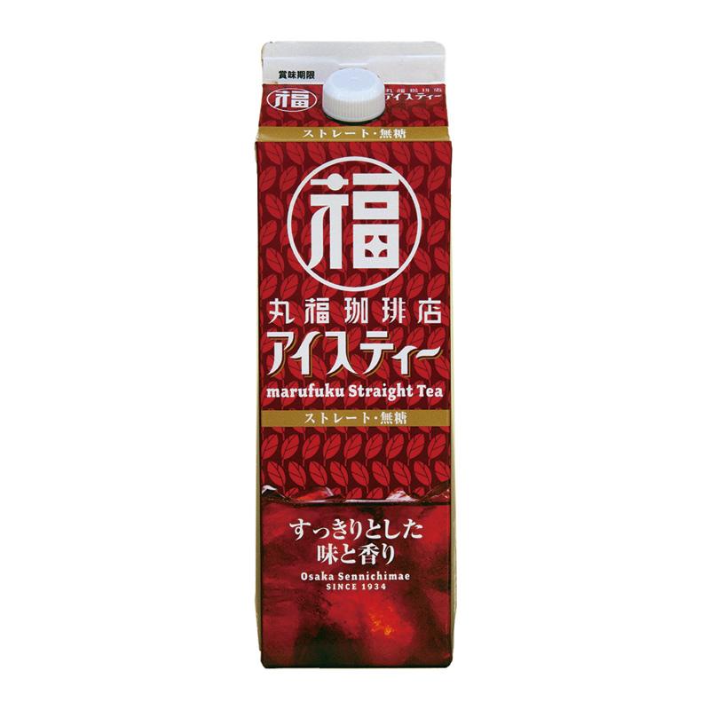 丸福珈琲店 アイスティーストレート 無糖 1000ml