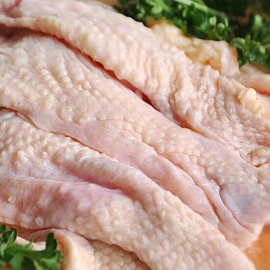 国産 鶏肉 紀州うめどり 皮 250g 冷凍 (和歌山県産 銘柄鶏 鶏皮 カワ)【紀の国みかん鶏での代用出荷】