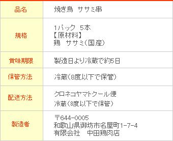 焼き鳥 和歌山県産 ささみ串 5本入 (生 未調理 国産 鶏ササミ ささ身)