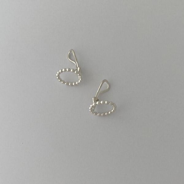 yorikojewellryi シルバー つぶつぶまるイヤリング