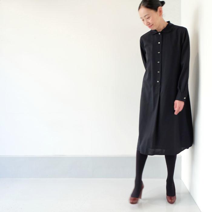 丸衿長袖ワンピース(秋冬)