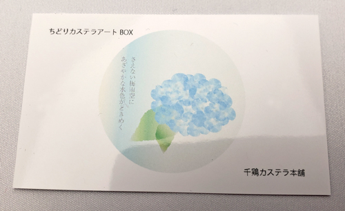 ちどりカステラアートBOX (個包装45g はちみつカステラ×10個)