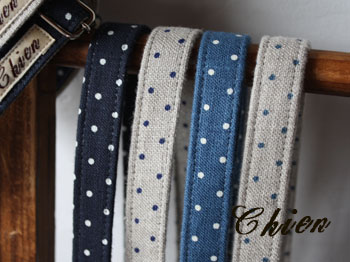 100%LinenDots-BLUE(単品)