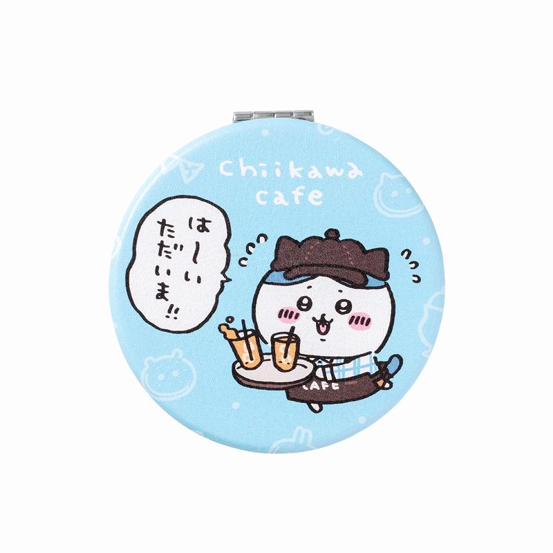 ちいかわカフェ 丸型コンパクトミラー(ハチワレ)【1会計 2個まで】
