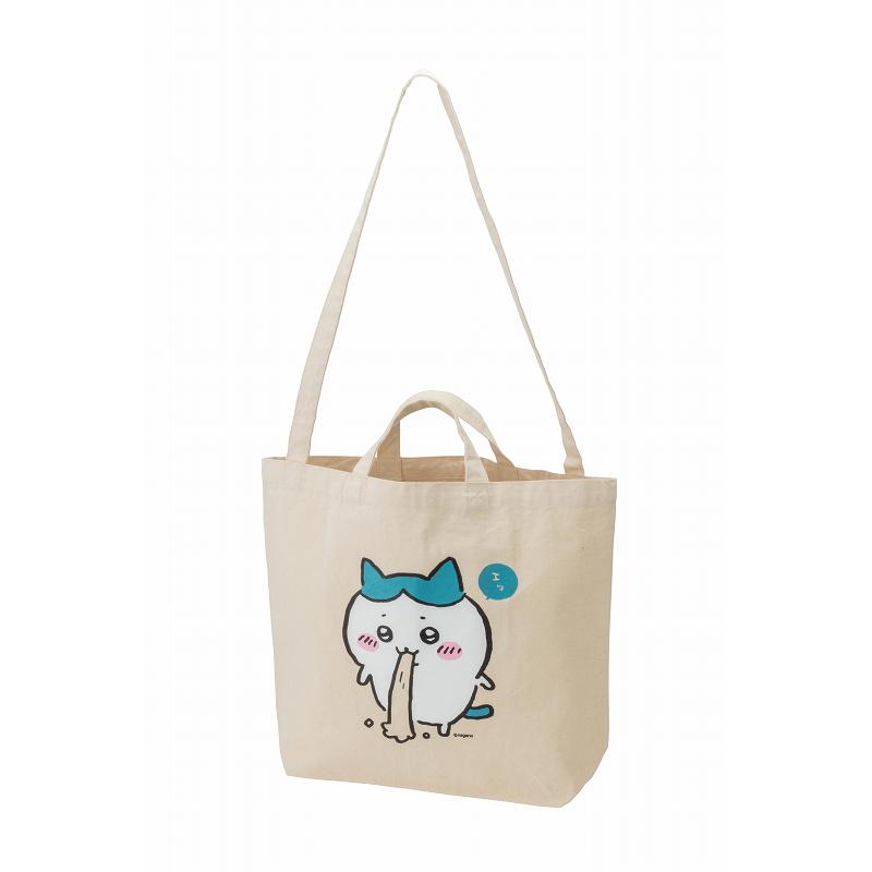 ちいかわ 肩掛け紐が長くて使いやすいトートバッグ(ハチワレ)