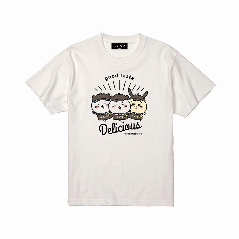 ちいかわ Cafe Tシャツ デリシャス オフ白【1会計 各サイズ2点まで】