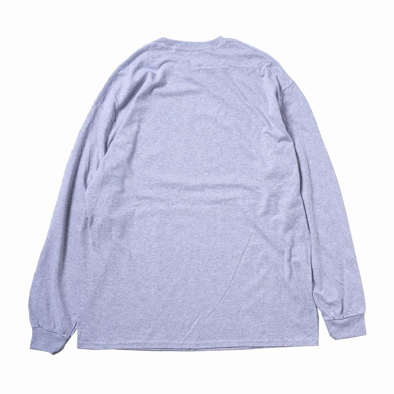 ちいかわ FACE L/S Tシャツ 杢グレー