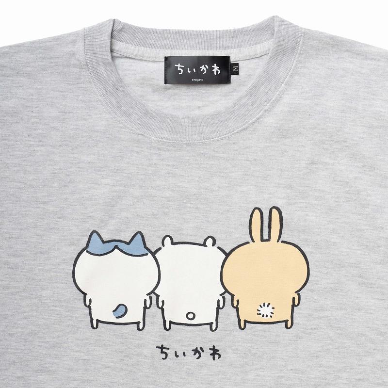 ちいかわ バックスタイル Tシャツ(アッシュ)
