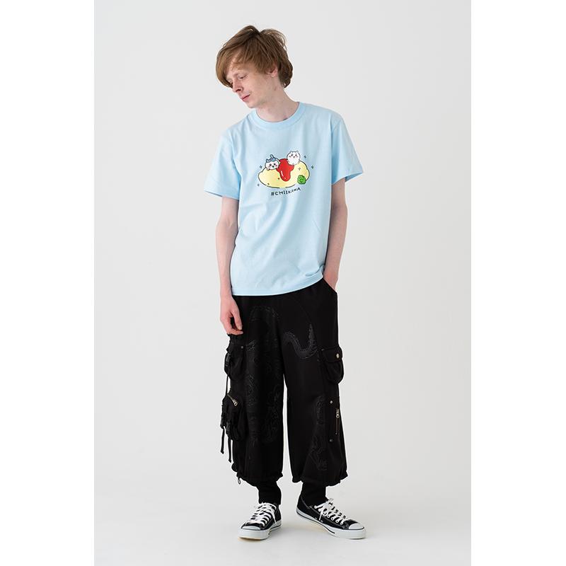 ちいかわ オムライス Tシャツ(ライトブルー)