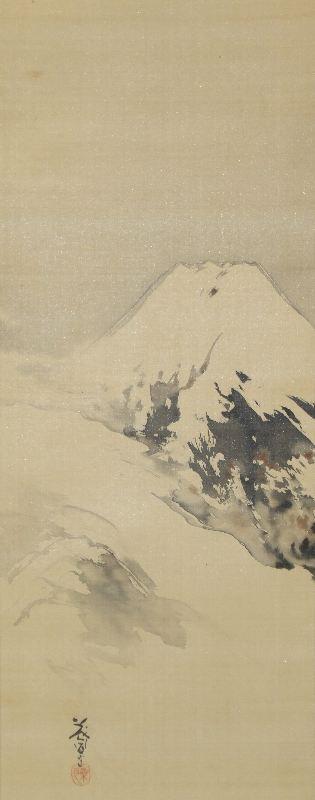 ユ-0004 湯浅 桑月 ≪富士山風景≫