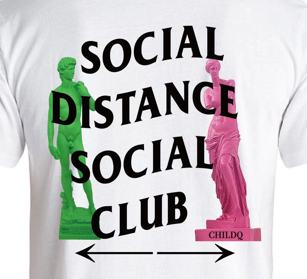 Social Distance Club2 T-shirt White