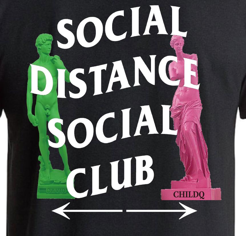 Social Distance Club2 T-shirt Black