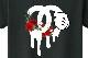 Parody One Hand Flower Swarovski T-shirt Black