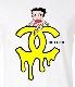 CHILDQ & Betty Long T-shirt White×YELLOW