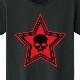 Stars Skull  T-shirt  Black×Red