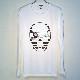 Skull Tattoo Girl NO.26 Long T-shirt White