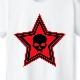 Stars Skull T-shirt White×Red