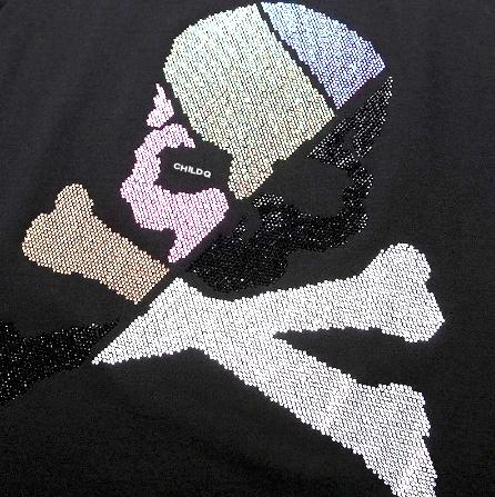 Skull and Bones Aurora Swarovski T-shirt