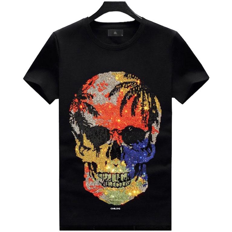 Skull Vacation Swarovski T-shirt