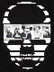 Skull Secret animal Long T-shirt Black