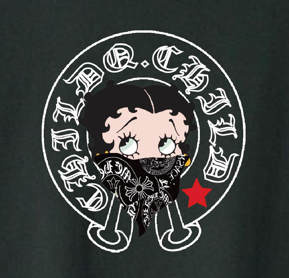 CHILDQ & Betty Gang N.o4 Black T-shirt