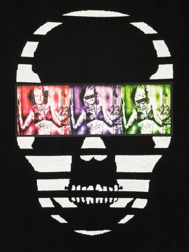Skull Tattoo Girl NO.23 T-shirt Black